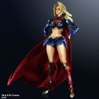 DC Comics Variant Play Arts Kai: Supergirl - Complete & Boxed Collector's Action Figure